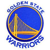 Official Golden State Warriors Logo Large Sticker Iron On NBA Basketball Patch Emblem