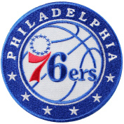 Official Philadelphia 76ers Logo Large Sticker Iron On NBA Basketball Patch Emblem