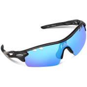 HODGSON TAC Gradient Lenses Sunglasses, Polarised for Men Women, Tr90 Unbreakable Sports Glasses for Cycling, Riding, Driving, and Other Outdoor Activities-blue