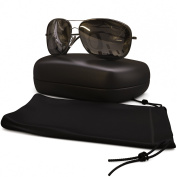 Classic Aviator Sunglasses Polarised - Best Glasses for Women and Men - 400 UVA Uv + UVB Protection From Sun - Block Reflections + Scratch Resistant