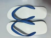 Thai Classic Genuine Nanyang Elephant Brand Rubber Slippers (Blue) Size 10.5
