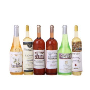 6Pcs Colourful Wine Bottles Dollhouse Miniature 1:12 Scale by Generic