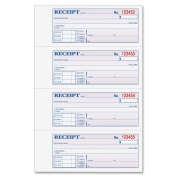 Adams Money and Rent Receipt, 19cm x 28cm , 2-Parts, Carbonless, 4 per Page, 200 Sets, White and Canary,
