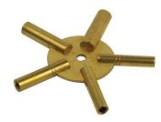 SE JT6334 5-in-1 Even Number Brass Clock Winding Key by Sona Enterprises