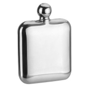 SAVAGE 180ml Hip Flask Round Lid 18/8 Stainless Steel Mirror Finished