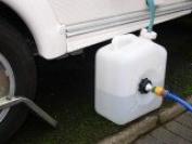 Caravan Mains Water Container & Adapter & 10m food grade hose