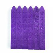 6pcs Carved Sealing Seal Wax Sticks for Retro Vintage Seal Stamp Purple