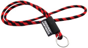 Original Lanyards Leis Label with Key Ring multi-coloured red / black