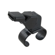 Black Plastic Pealess Finger Grip Sports Referee Whistle