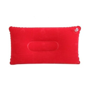 Westeng 1pc Outdoor Air Pillow Camping Hiking Inflatable Pillow Soft Blow-Up Travel Cushion