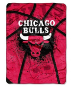 Northwest Chicago Bulls Official NBA 150cm x 200cm Royal Plush Raschel by Throw Blanket