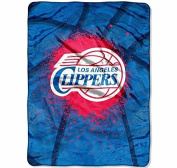 NBA Los Angeles Clippers Throw Blanket, 80x60, Red, Blue, Black, Silver, White, Sports & Collegiate Pattern, Polyester Soft Touch, Machine Washable, Team Logo, Sports Themed, Perfect For Living Room