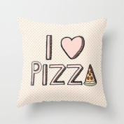 New Design throw pillow coverI Love Pizza New arrival comfortable pillowcase by Feel Free