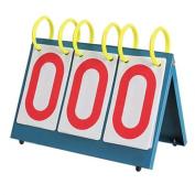 Dealglad Multi-purpose Sports Three Digit Flip Scoreboard for Knowledge Contest