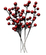 Pack of 10 Christmas Decor Crabapple Decorated Wreath Garland Xmas Tree Decorations New Years Holiday Festive Party Shopping Malls Dress Up