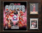 CandICollectables 121576ERSGR NBA 30cm x 38cm . Philadelphia 76ers All-Time Great Photo Plaque
