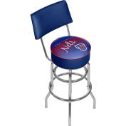 NBA New Jersey Nets Hardwood Classics Bar Stool with Back, One Size, Chrome