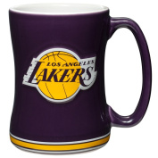 Los Angeles Lakers Coffee Mug - 410ml Sculpted Relief