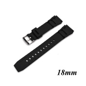 Kocome Silicone Rubber Watch Strap Band Deployment Buckle Diver Waterproof 18mm