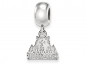 Minnesota Timberwolves Bead Charm Extra Small (1cm ) Dangle (Sterling Silver