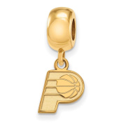 Indiana Pacers Bead Charm Extra Small (1cm ) Dangle