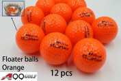 A99 Floating Golf Ball Floater Float Water Range 12pcs, Orange