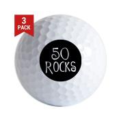 CafePress - 50Th Birthday Saying, 50 Rocks! - Golf Balls (3-Pack), Unique Printed Golf Balls