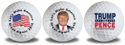 Trump Pence Flag Golf Balls 3 Pack