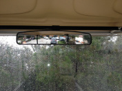 42cm Extra Wide Panoramic Rear View Mirror for Golf Carts Such As Ez Go, Club Car, Yamaha