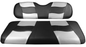Madjax RIPTIDE 2004-Up Black/Silver Carbon Two-Tone Front Seat Covers for Club Car Precedent Golf Carts