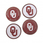 Oklahoma Sooners Double Sided OU Golf Ball Markers