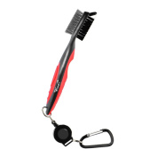 Golf Brush, Wuudi Spike Club Groove Cleaner & 0.6m Retractable Zip-line Carabiner, Easily Attaches to Golf Bag