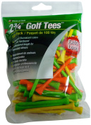JEF World of Golf Tee (Pack of 100), 7cm , Fluorescent