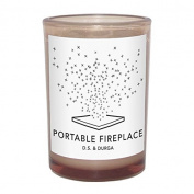Portable Fireplace Candle 210ml candle by D.S. & Durga