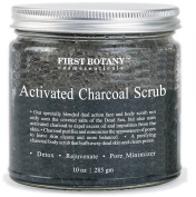 The BEST Charcoal Scrub 300ml- Best for Facial Scrub, Pore Minimizer & Reduces Wrinkles, Acne Scars, Blackheads & Anti Cellulite Treatment - Great as Body Scrub, Body & Face Cleanser