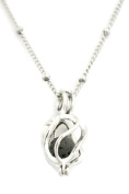 Encircle Silver Essential Oil Aromatherapy Diffuser Necklace- 46cm