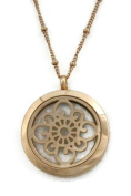 Grace Rose Gold 316L Stainless Steel Essential Oil Diffuser Necklace- Long 80cm