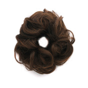 """MapofBeauty 6""""/15cm Daily Use Rubber Band Circle Curly Hair Extension Piece"""