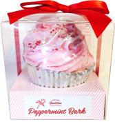 Peppermint Bark Large Cupcake Bath Bomb