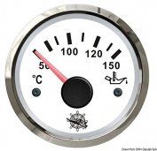 Oil temperature gauge 50/150° white/glossy