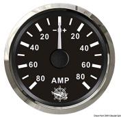 Ammeter w/shunt 80 A black/glossy