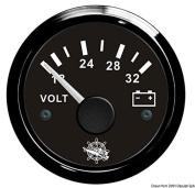 Voltmeter 18/32 V black/black