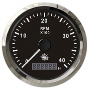 Osculati 27.326.03 - Revolution counter 0-6000 RPM black/glossy