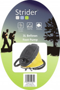 Strider Bellows Foot Pump - Black, 3 Litres
