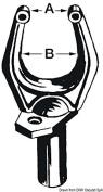 Osculati 34.437.00 - Black nylon rowlocks 32x46mm