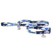 Denver Nuggets 3pc Pet Set Dog Leash Collar ID Tag XS
