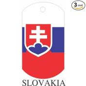Slovakia Flag Dog Tags - 3 Pieces
