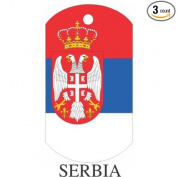 Serbia Flag Dog Tags - 3 Pieces