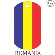 Romania Flag Dog Tags - 3 Pieces