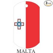 Malta Flag Dog Tags - 3 Pieces
